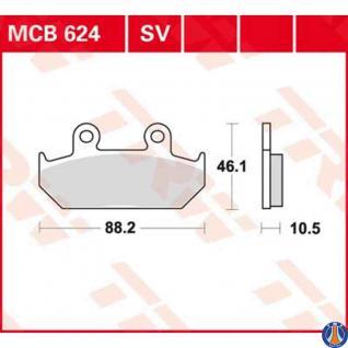 MCB624SV Bremsbelag Cagiva 600 Canyon 900 Elefant Honda 600 XL 650 NX 650 XRV Africa Twin 1500 Goldwing