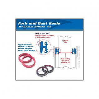 Fork Seal & Dust Seal Kit Yamaha FZ6R 09-14, FZR1000 94-95, TDM850 (Euro) 94-95, TDM850 92-93, TMAX XP500 (SA) 06-07, XVS1100 V-Star (SA) 14, XVS1300 STRYKER 11-14, YZF-R6 06-14