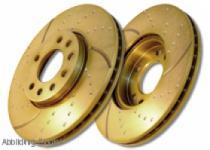 GD989 EBC Turbo Groove Bremsscheibe vorne für MERCEDES-BENZ M-Class (W163) ML320 (3.2) 1998-2000