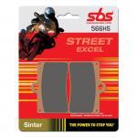 Bremsbelag SBS 566HS Streetexcel Sintermetall Beta Cagiva Ducati Gas Gas Husqvarna Italjet KTM Laverda Moto Guzzi Sachs MZ Yamaha