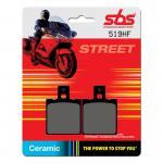 Bremsbelag SBS 519HF Street Ceramic Aprilia Cagiva Ducati Fantic Gilera Italjet KTM Laverda Moto Guzzi MUZ Yamaha