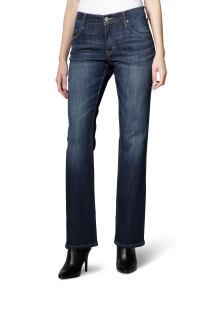 Mustang - High Rise - comfort fit - Damen Jeans Hose mit bootcut leg, Farbe Dark rinse used, Sissy Boot (520-5220-593)