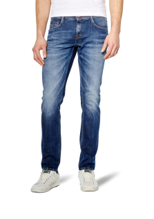 Mustang - Slim Fit - Herren 5-Pocket Jeans in Farbe light scratched used und dark rinsed used, Low rise - Oregon Tapered (3116-5111)