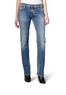 Mustang - Straight Leg/Medium Rise - Damen Jeans Hose in brushed bleached, Girls Oregon (3580-5039-512)