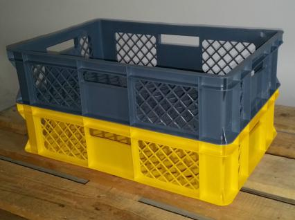 Kistenset Stapelbehälter Lagerkasten Brötchenkorb Kunststoffkiste Lagerkiste