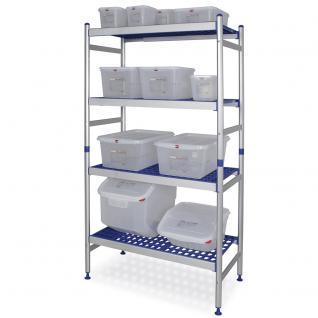 Aluminium Steckregal Hygieneregal Gitterregal Lagerregal Alu Regal 72681 - Vorschau