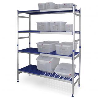 Aluminium Steckregal Hygieneregal Gitterregal Lagerregal Regal verstellbar 72683 - Vorschau