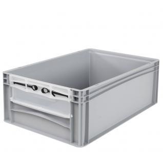 Euro-Stapelbehälter -Profi- mit Eingrifföffnung und Riegelklappe Behälter 21094 - Vorschau 1