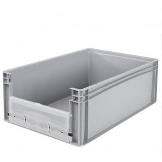 Euro-Stapelbehälter -Profi- mit Eingrifföffnung und Riegelklappe Behälter 21094 - Vorschau 3