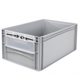 Euro-Stapelbehälter -Profi- mit Eingrifföffnung und Riegelklappe Behälter 21095 - Vorschau 1