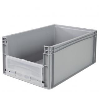Euro-Stapelbehälter -Profi- mit Eingrifföffnung und Riegelklappe Behälter 21095 - Vorschau 2