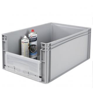 Euro-Stapelbehälter -Profi- mit Eingrifföffnung und Riegelklappe Behälter 21095 - Vorschau 3