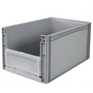 Euro-Stapelbehälter -Profi- mit Eingrifföffnung und Riegelklappe Behälter 21096 - Vorschau 3