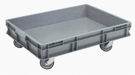 Stapelbehälter Volumenboxen Griffleiste Rollbehälter Kunststoffbehälter 55829