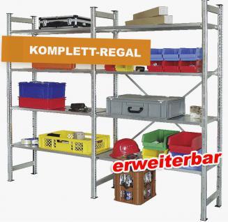 Steckregal Lagerregal Kellerregal Regal Werkstattregal Schwerlastregal 61932 - Vorschau
