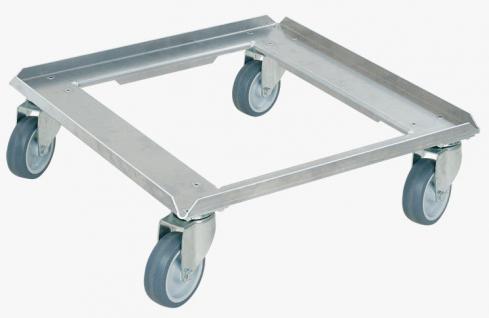 Aluminiumroller Transportroller Rollwagen Spülkorbroller Paketroller 55898