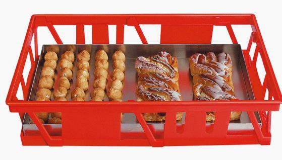 7x Kuchenblechkasten Gitterkorb Bäckerkasten Gebäckkasten Backbehälter 20098 - Vorschau 1