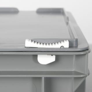 Kunststoffkoffer / Gerätekoffer, Euro-Format LxBxH 600 x 400 x 330 mm, 63 Liter, rot, Industriequalität - Vorschau 2