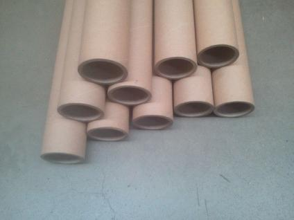 10x Papprollen Papprohre Versandhülsen Versandrollen Bastelrolle - Vorschau 1
