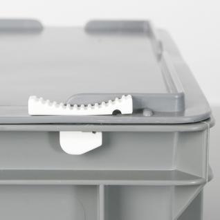 Kunststoffkoffer / Gerätekoffer, Euro-Format LxBxH 600 x 400 x 330 mm, 63 Liter, rot, Industriequalität - Vorschau 3