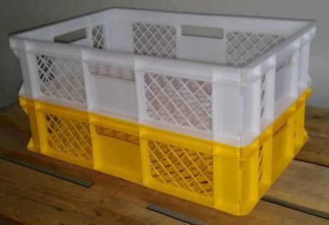 Kistenset Stapelbehälter Lagerkasten Brötchenkorb Kunststoffkiste Lagerkiste - Vorschau
