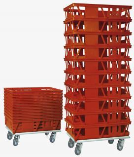 7x Kuchenblechkasten Gitterkorb Bäckerkasten Gebäckkasten Backbehälter 20098 - Vorschau 2