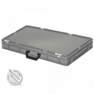 Kunststoffkoffer / Gerätekoffer, Industriequalität, LxBxH 600 x 400 x 85 mm, 14 Liter, grau - Vorschau