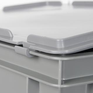 Kunststoffkoffer / Gerätekoffer, Euro-Format LxBxH 600 x 400 x 330 mm, 63 Liter, rot, Industriequalität - Vorschau 4