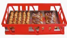 Kuchenblechkasten Gitterkorb Bäckerkasten Gebäckkasten Backbehälter 20098