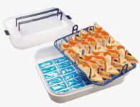 Kühlbox Buffet Frischhaltebox Buffetplatte Aufbewahrungsbox Servierplatte 55850