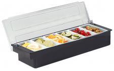 Buffetvitrine Gewürzspender Frischhaltebox Zutatenbehälter Gewürzkasten 57034