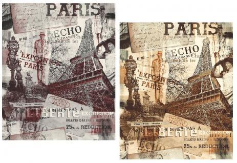 Vliestapete Paris Eifelturm bordeaux France Frankreich Stadt Motiv rot grau rost