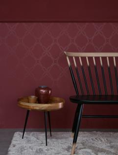 Vlies Tapete grafisches Ornament Muster grau / weiß / rot Schöner ...