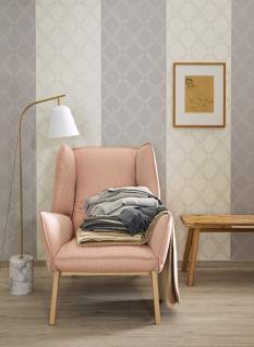 Vlies Tapete grafisches Ornament Muster grau / weiß / rot Schöner Wohnen Rauten