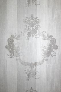 Vlies Tapete 46524 Antik Holz Ornament hell grau Royal Wood Design Barock shabby