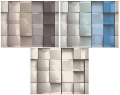 vlies tapete design karo muster braun grau wei blau t rkis kachel optik retro. Black Bedroom Furniture Sets. Home Design Ideas