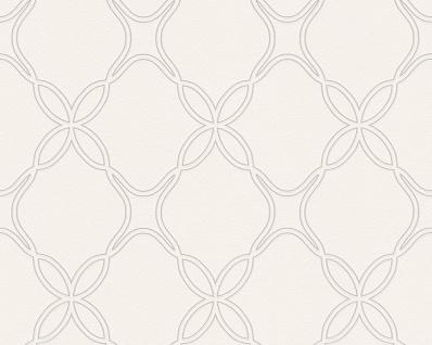 Vlies Tapete grafisches Ornament Muster weiß taupe Schöner Wohnen Rauten