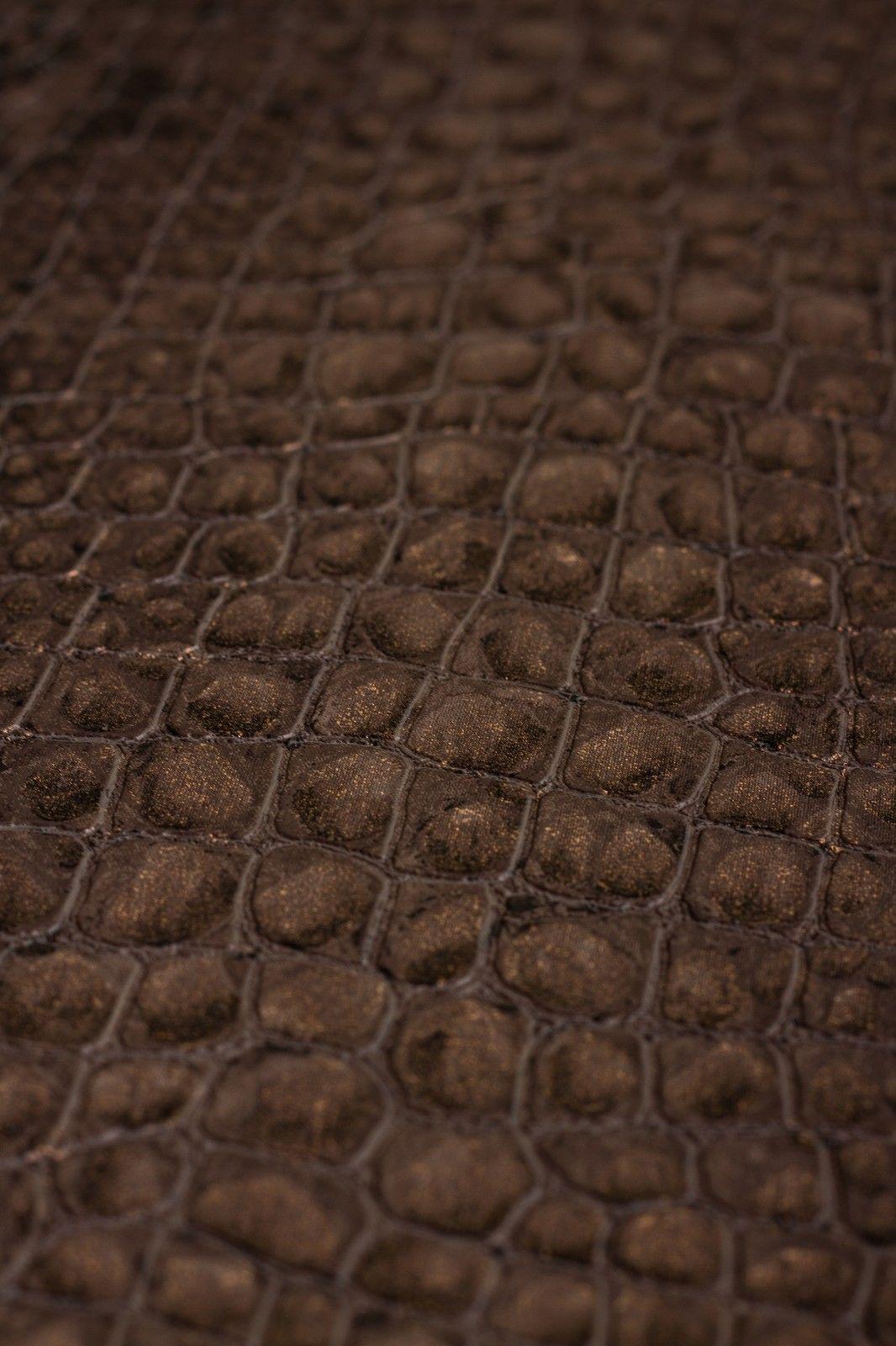 Vlies tapete schlangen leder muster braun bronze graham for Tapete muster braun