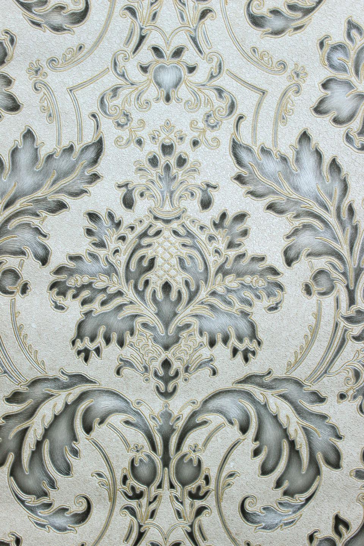 vlies tapete barock ornament creme gold grau silber metallic hochwertig jc2008 3 kaufen bei. Black Bedroom Furniture Sets. Home Design Ideas
