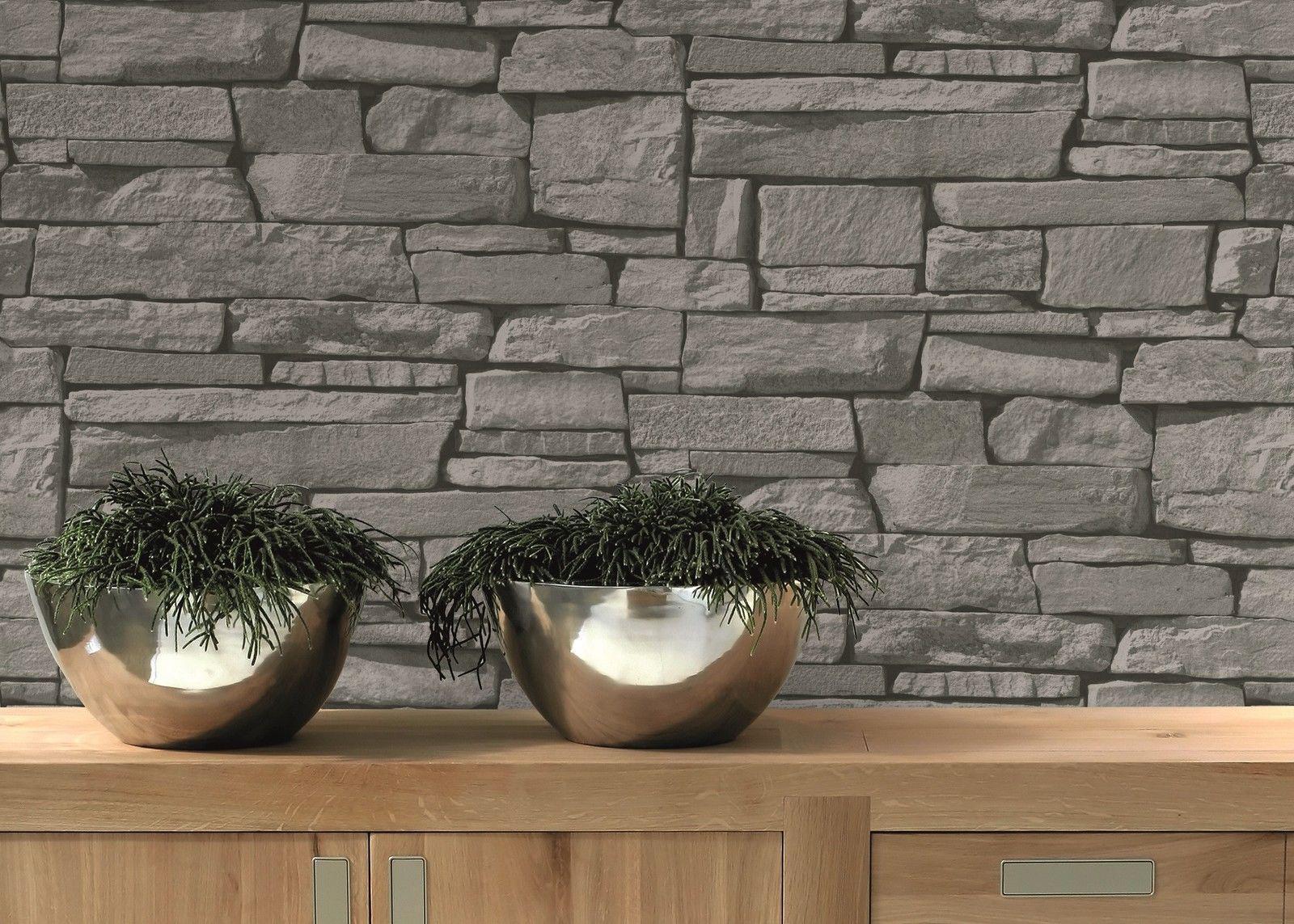 vlies tapete bruchstein stein mauer ziegelstein grau klinker grandeco kaufen bei joratrend e k. Black Bedroom Furniture Sets. Home Design Ideas