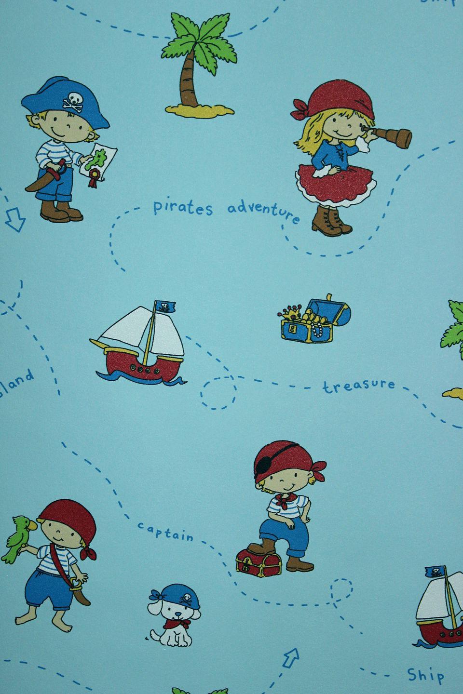 Vlies tapete piraten kinder zimmer schiff insel for Kinder tapete