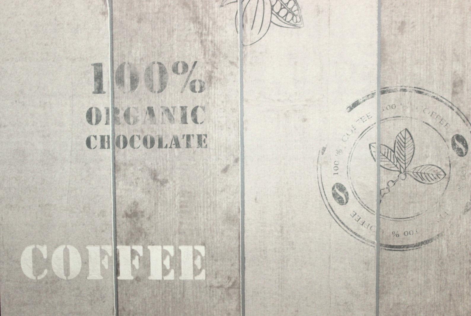 Vlies Tapete Kaffee Kakao 8845-34 Holz grau toop Küche Cocktail As ...