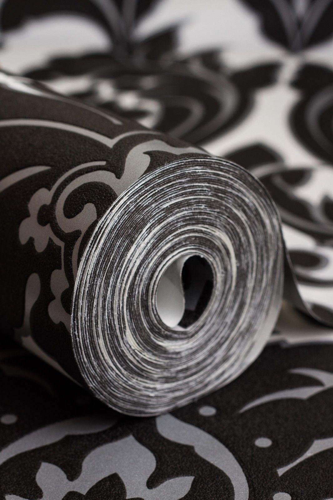 faszinierend tapete schwarz wei muster bilder erindzain. Black Bedroom Furniture Sets. Home Design Ideas