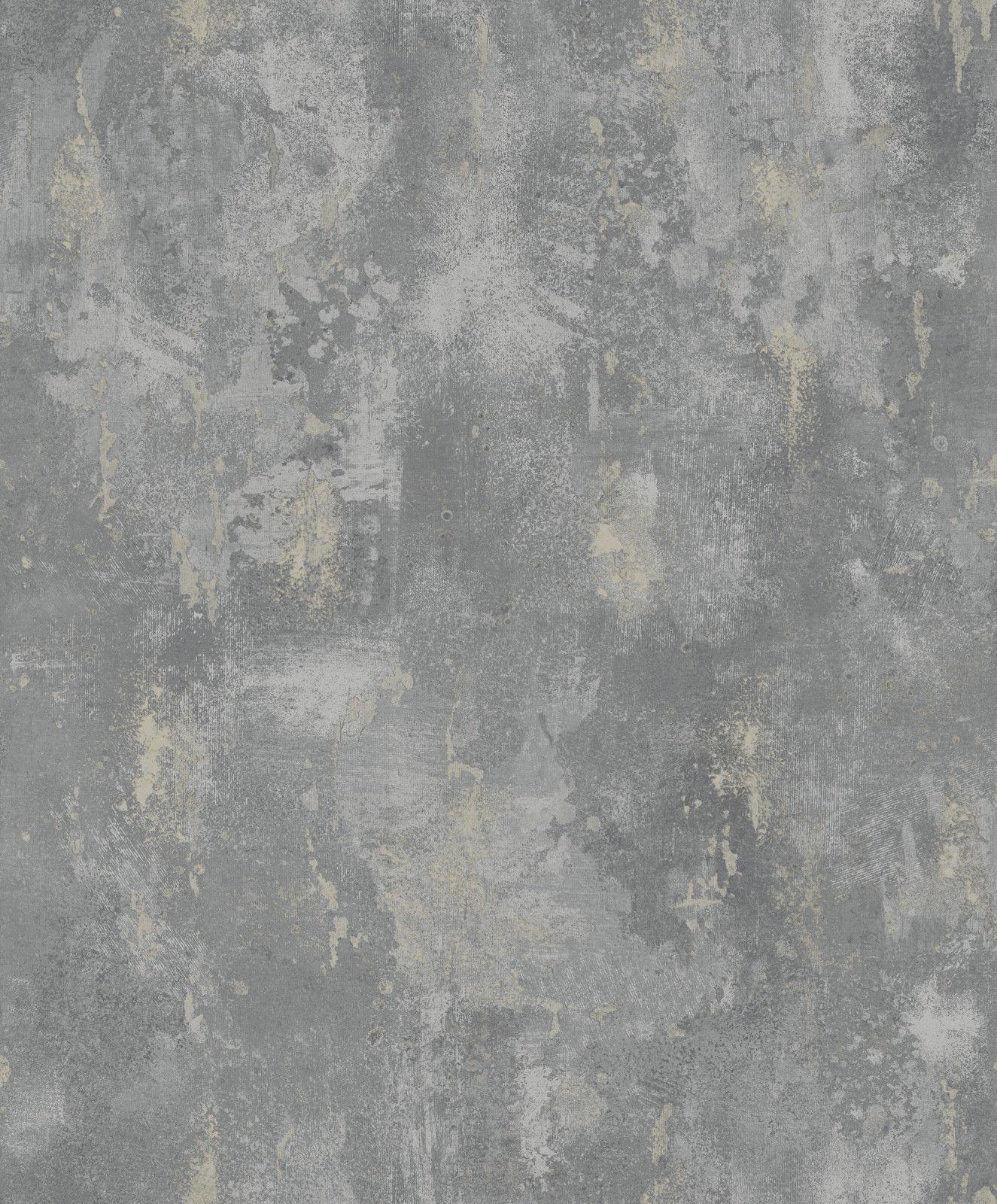 Vliestapete stein optik patina anthrazit grau gold 1008 for Tapeten in gold optik