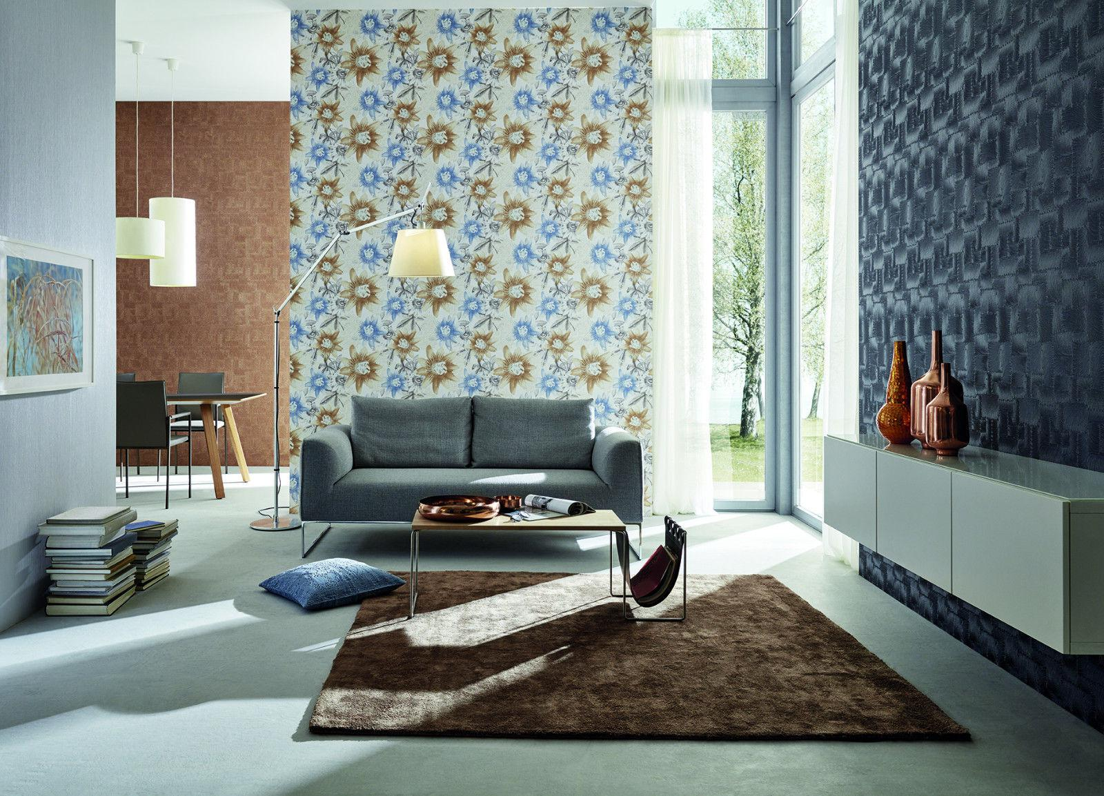 vlies tapete aquarell passionsblume retro blumen muster wei pastell blau pink kaufen bei. Black Bedroom Furniture Sets. Home Design Ideas