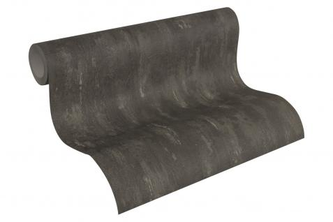 Vlies Tapete Stein Wand Beton Optik struktur anthrazit schwarz 30694-7