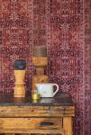 Vlies Tapete orientalisches Wandteppich Muster bordeaux rot ethno look 218030