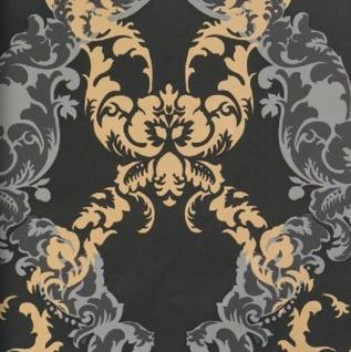 vlies tapete barock muster ornament metallic grau silber weiss bn ornamentals kaufen bei. Black Bedroom Furniture Sets. Home Design Ideas