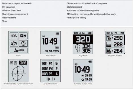 GolfBuddy GPS-Golfuhr WT5 - Vorschau 3