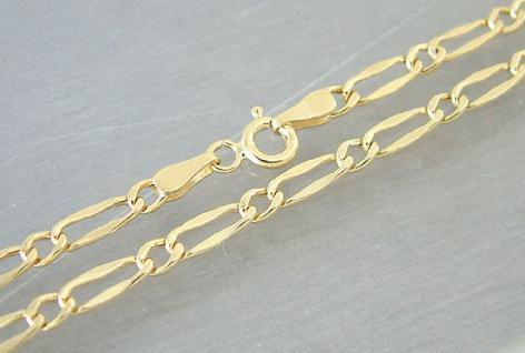 55 CM GOLDKETTE 585 - GROSSE GLIEDER - HALSKETTE GOLD 14 KT - COOLE KETTE